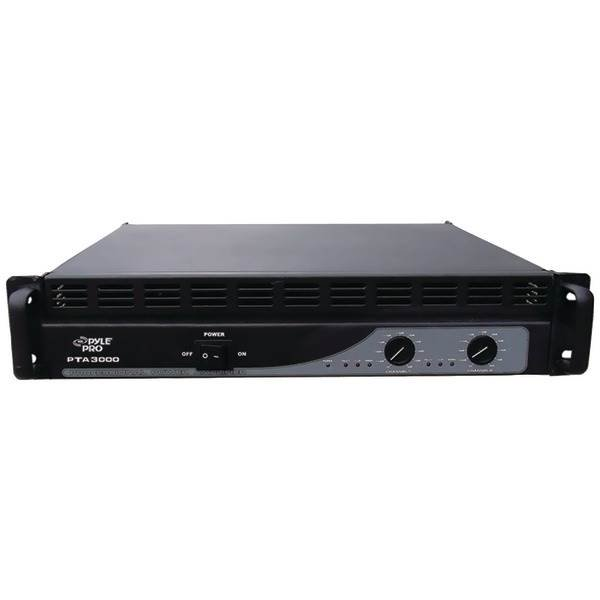 Professional Power Amp (3,000 Watt with Built-In Crossover)