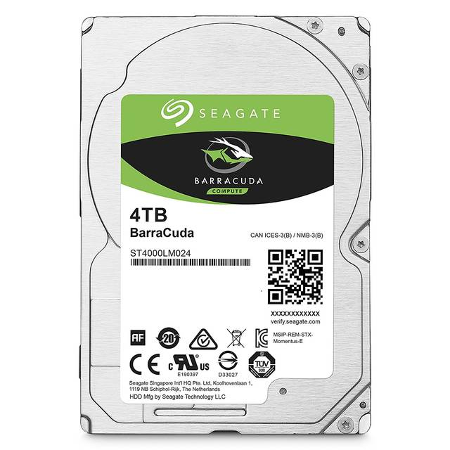 Seagate Barracuda ST4000LM024 4TB 5400RPM SATA 6.0 GB s 128MB Hard Drive (2.5 inch) by Seagate