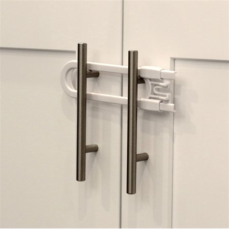 Child Safety Sliding Cabinet Locks 4 Pack Baby Proof S Handles Doors U Shape Latch Lock By Jool