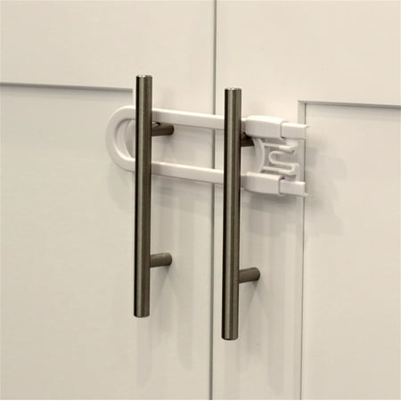 Child Safety Sliding Cabinet Locks 4 Pack Baby Proof