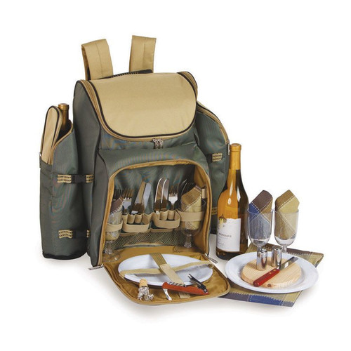 Tandoor 4 Person Deluxe Picnic Backpack w Insulation