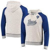 Los Angeles Rams NFL Pro Line by Fanatics Branded True Classics Vintage Archive Script Tri-Blend Raglan Pullover Hoodie