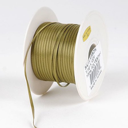 BBCrafts 1/16 inch x 100 Yards Satin Ribbon Single Face Decoration Wedding Party (Willow), Ship in 1 Business Day. By Generic