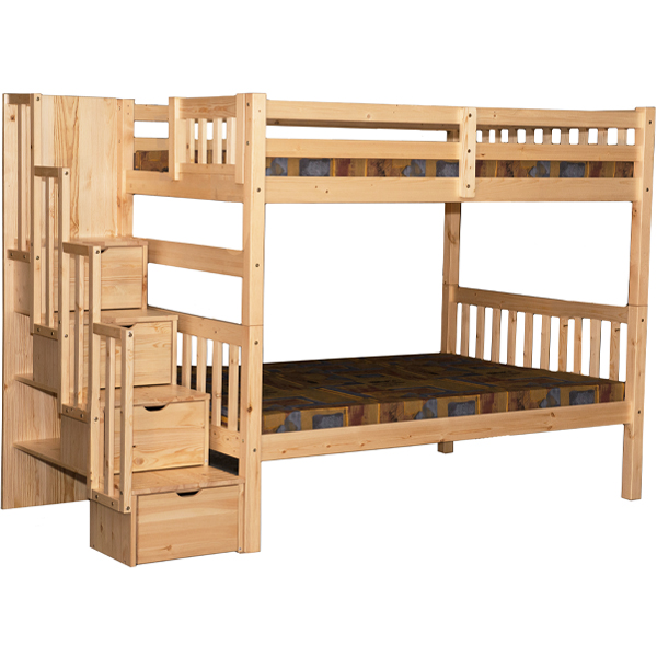 Staircase Full Over Full Bunk Bed With Trundle Walmart Canada
