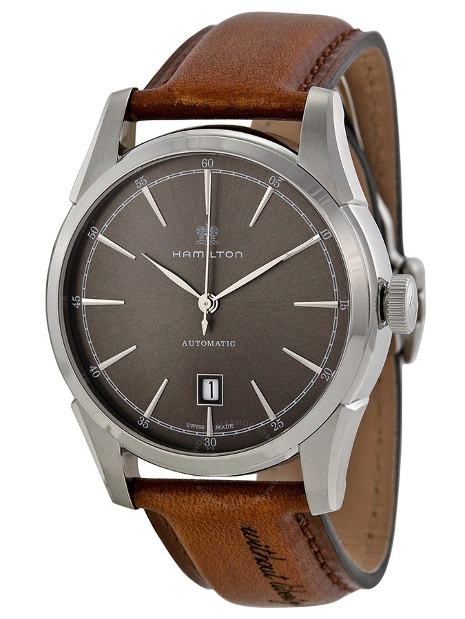 Hamilton Spirit of Liberty Automatic Grey Dial Mens Watch H42415591 by Hamilton