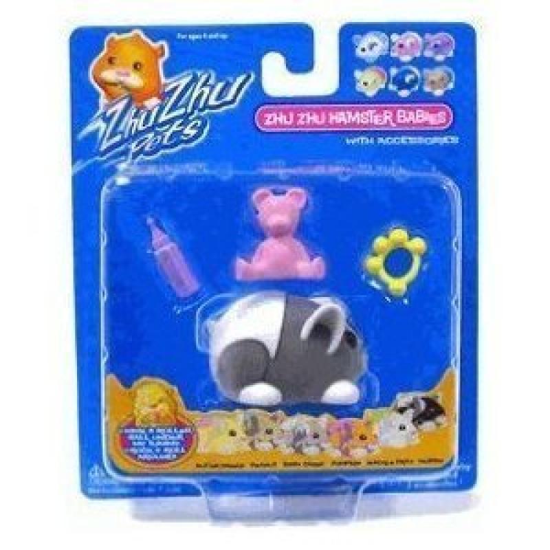 Zhu Zhu Pet Hamster - Muffin - Dark Gray with With Diaper