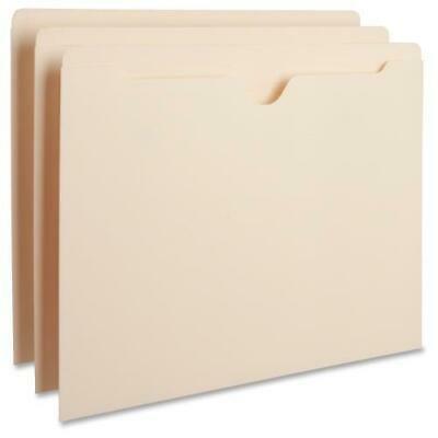 "Business Source Manila Flat File Pockets - Letter - 8 1/2"" x 11"" Sheet Size - 11 pt. Folder Thickness - Manila - Recycled - 100 / Box"