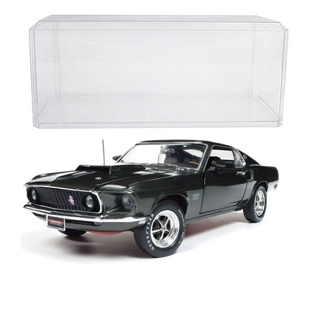 (Set) 1969 Ford Mustang Boss 429 Die Cast - 1:18 Scale - With Display
