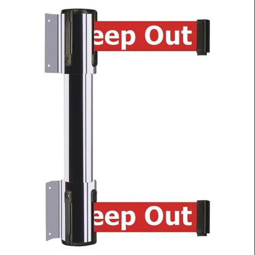 TENSATOR 896T2-1P-STD-RHX-C Belt Barrier, Danger - Keep Out