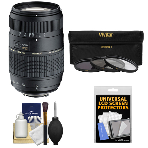 Tamron 70-300mm f/4-5.6 Di LD Macro 1:2 Zoom Lens with 3 ...