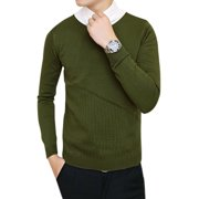 Azzuro Men's V Neck Long Sleeves Hollow Out Detail Sweater (Size S / 36)