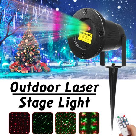 Outdoor Laser Projector Light Star Sky Show Red & Green Startastic Lights Landscape Waterproof Lamp For Home Garden Xmas Decor with Remote Control](Laser Stars)