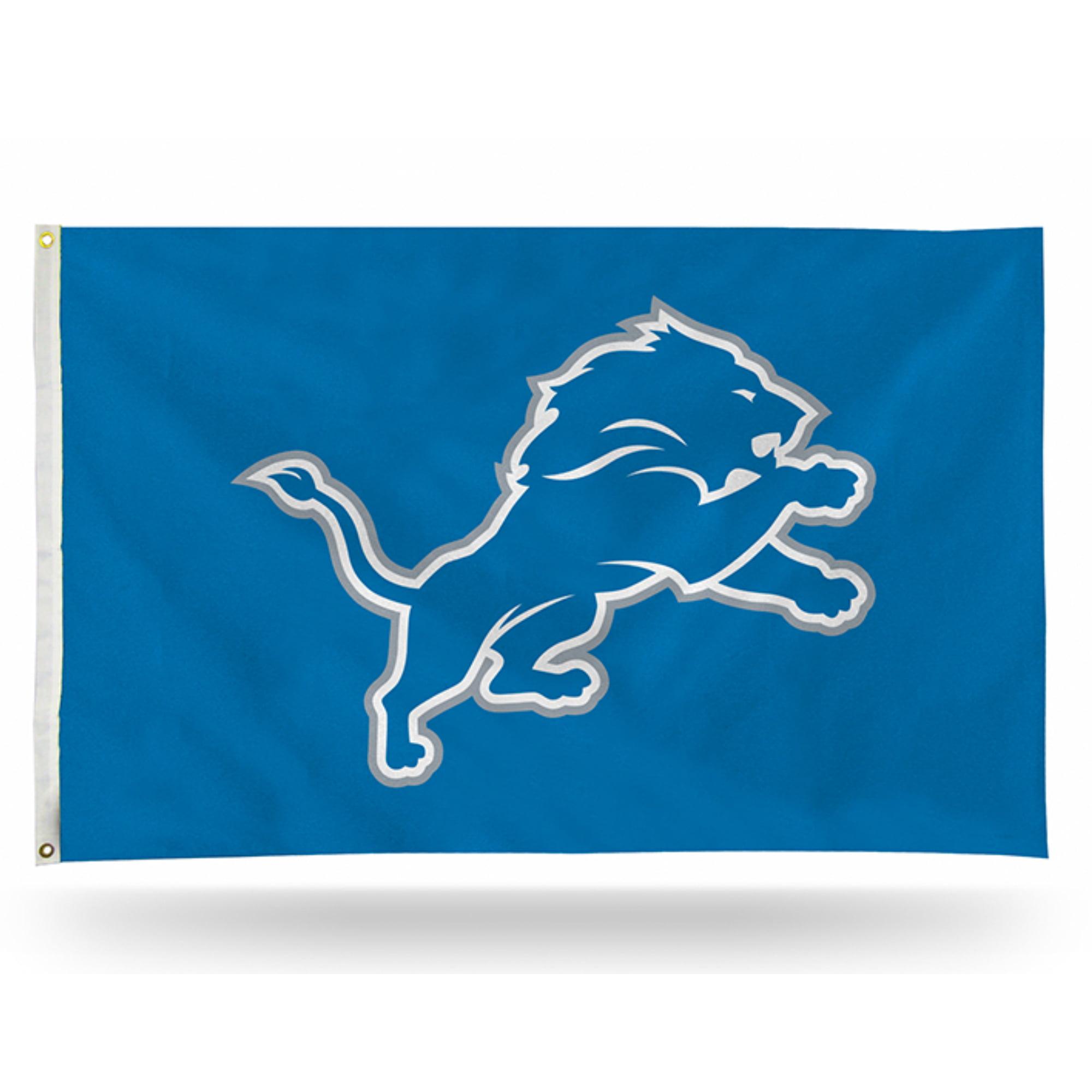 Rico Industries NFL 3' x 5' Banner Flag, Detroit Lions