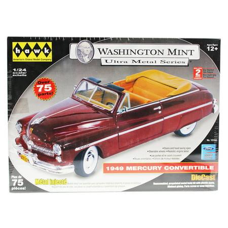 - Washington Mint 1949 Mercury Dark Red Convertible Die Cast Model (75+ Pieces)