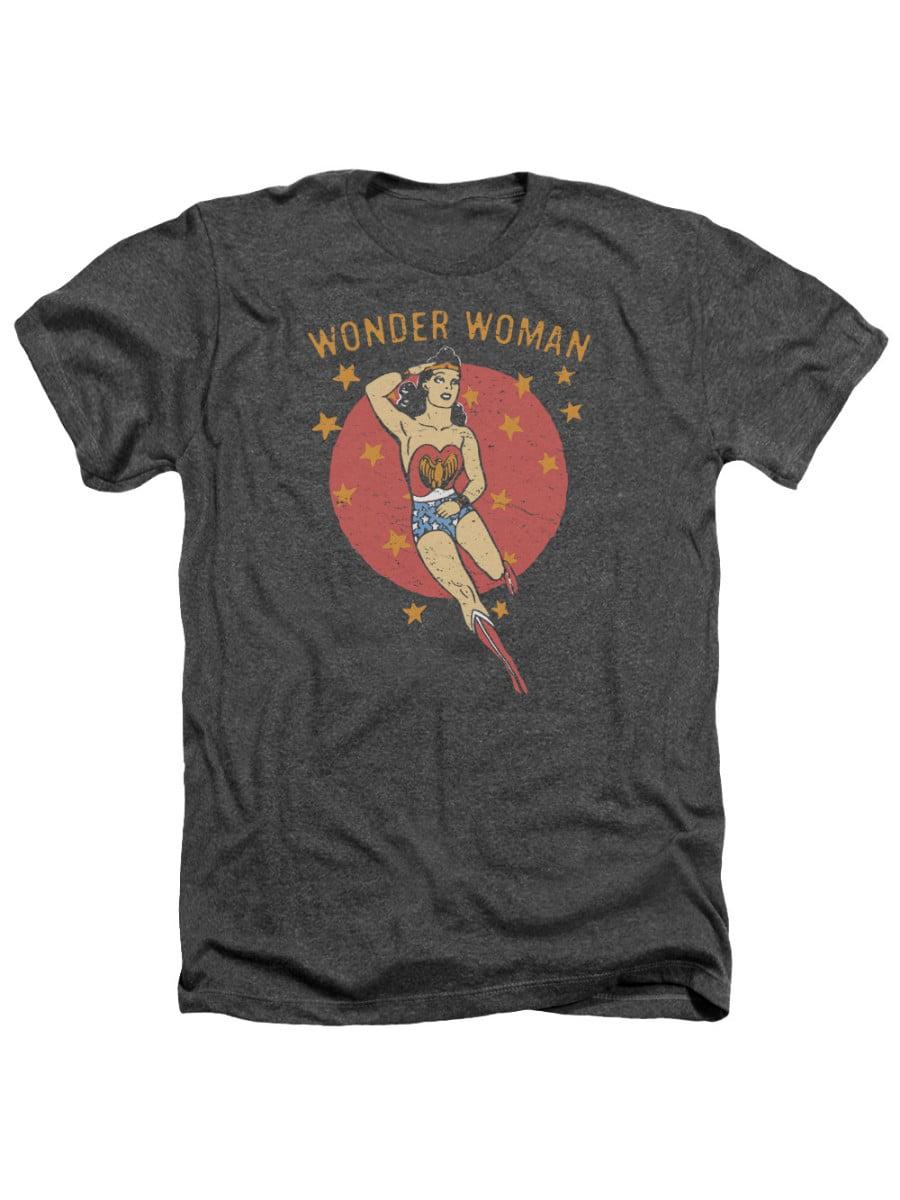Wonder Woman DC Comics Superhero Wonder Circle Adult Heather T-Shirt Tee