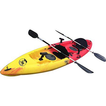 BKC UH-TK181 12.5 foot Sit On Top Tandem Fishing Kayak wi...