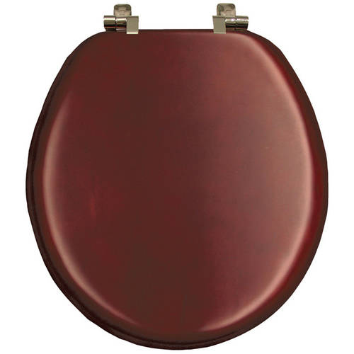 bemis 9602ni natural reflections wood round toilet seat cherry veneer