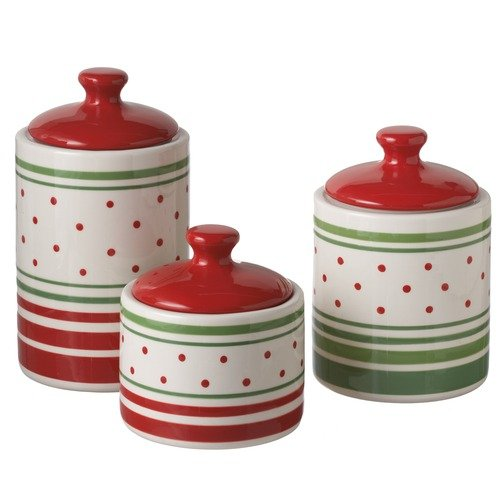 Midwest-CBK Striped Canister (Set of 3)