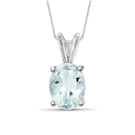 1.66 Carat T.G.W. Aquamarine Gemstone Pendant