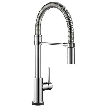 Delta Faucets Trinsic Pro Spring Spout Touch Kitchen Faucet ...