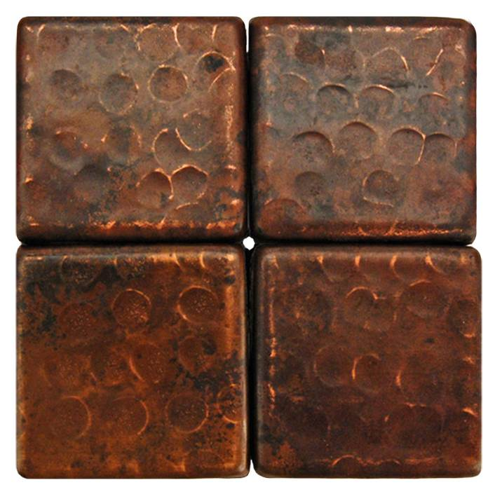 Premier Copper Products 2'' x 2'' Hammered Copper Tile in Oil Rubbed Bronze (Set of 8)