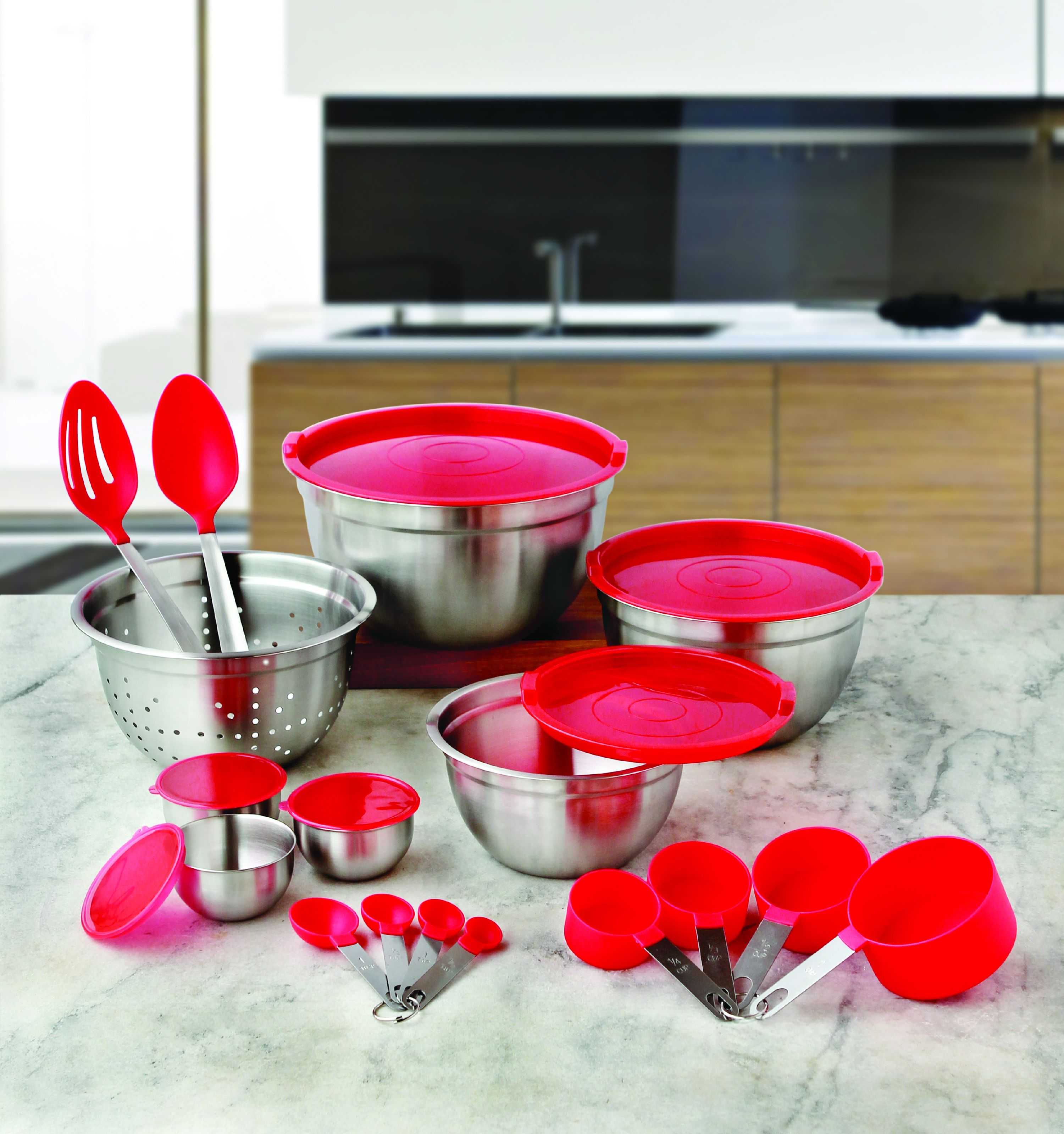 Better Homes and Gardens 23-Piece Gadget and Utensil Set, Red