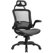 BestMassage High Back Adjustable Mesh Home Office Chair, Ergonomic Rolling Swivel Desk Chairs with Lumbar Support Headrest Flip-up Arms Computer Chair for Women, Men