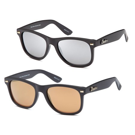 GAMMA RAY CHEATERS Best Value Polarized UV400 Classic Style Sunglasses with Mirror Lens and Multi Pack Options