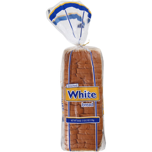 Great Value Enriched White Bread, 18oz