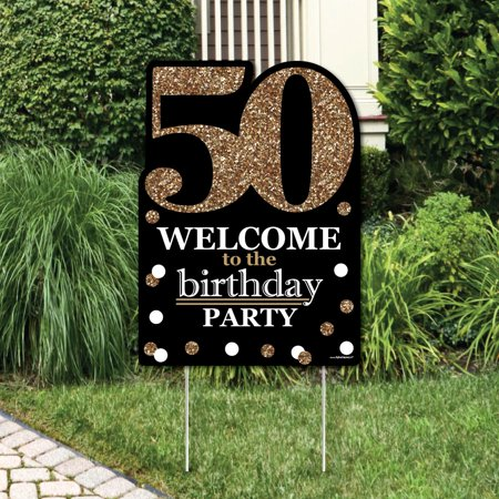 Adult 50th Birthday - Gold - Party Decorations - Birthday ...
