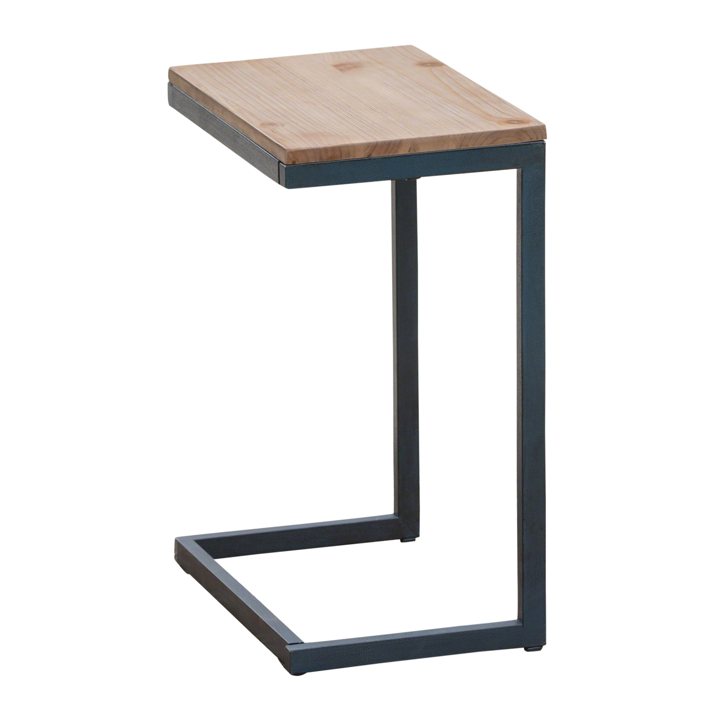 Amaya Outdoor Firwood C Shaped Accent Table Antique And