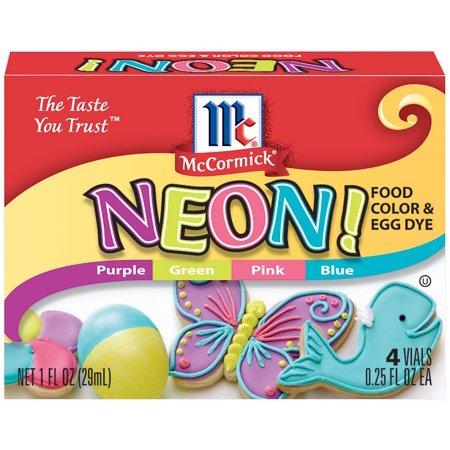 McCormick Neon Assorted Food Color, 4 CT - Walmart.com