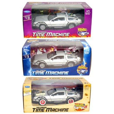 - Collect All 3! Back to The Future 1-2-3, DeLorean Time Machine.