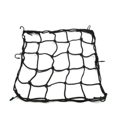 40 x 40cm Motorcycle Luggage Fuel Cargo Net Mesh Web Storage Helmet Holder Black (Motorcycle Helmet Storage)