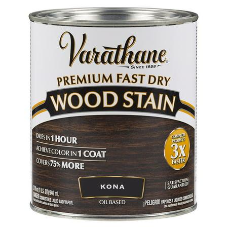 Rust-Oleum 262010 Varathane Fast Dry Wood Stain Quart, Kona