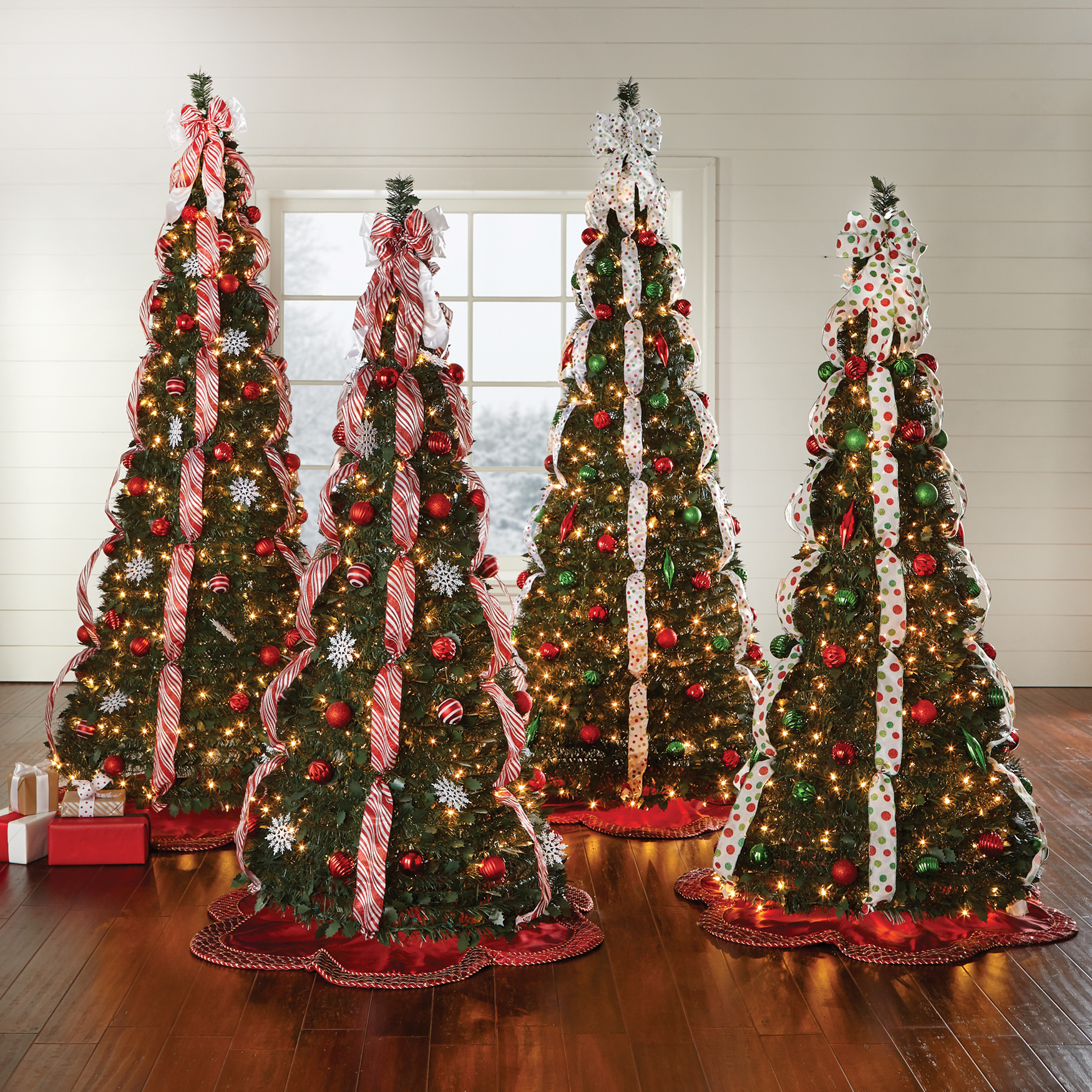 BrylaneHome Christmas Fully Decorated Pre-Lit 6-Ft. Pop-Up ...