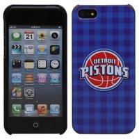 Detroit Pistons iPhone 5 Plaid Snap-On Case - Royal Blue