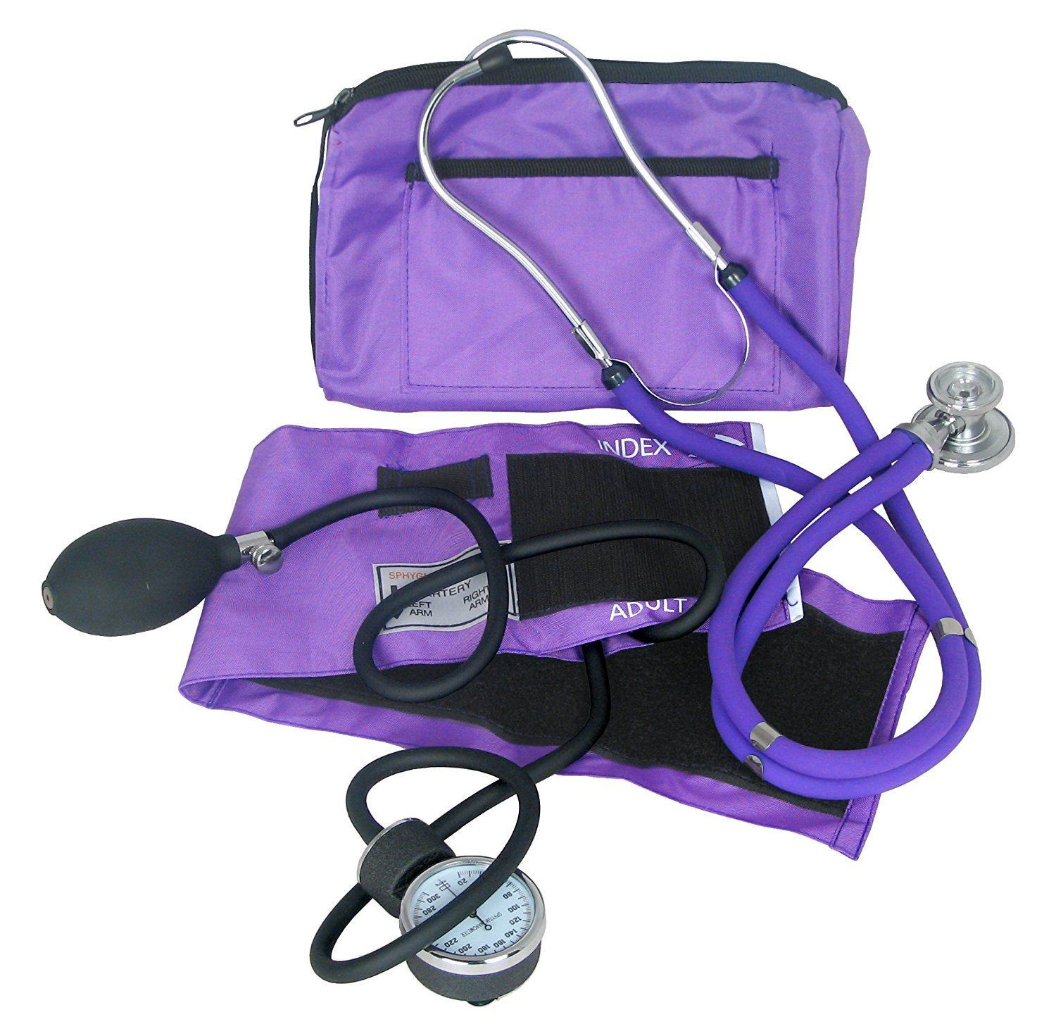 Dixie EMS Blood Pressure and Sprague Stethoscope Kit (PURPLE)