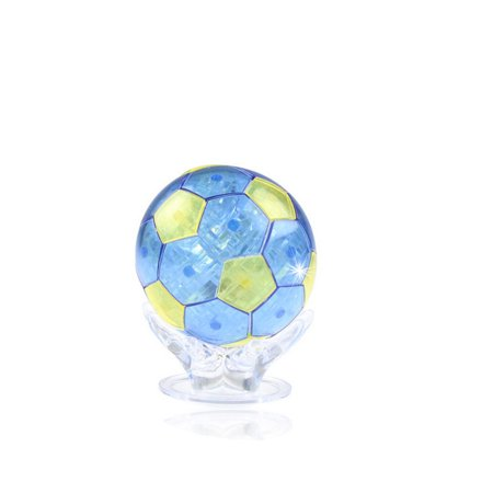 3D Flashing Football Plastic Building Blocks Jigsaw Educational Puzzle Toy for Children Color:blue 3 D Jigsaw Puzzles