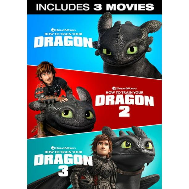 How To Train Your Dragon 3 Movie Collection Dvd Walmart Com Walmart Com