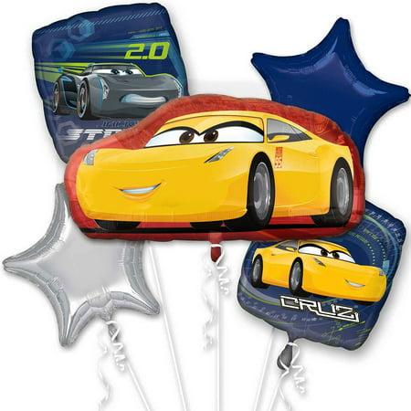 Disney Cars 3 Cruz Jackson of  Foil Balloon Bouquet](Car Balloons)