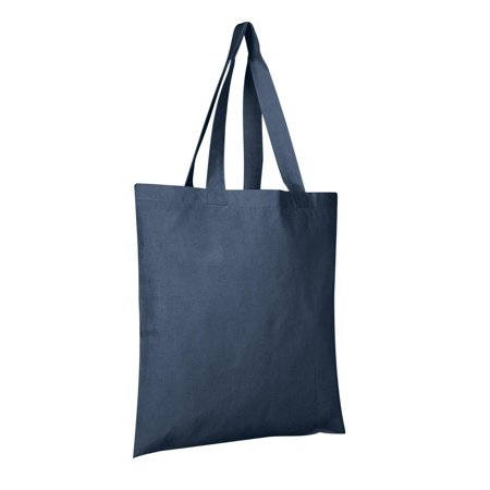 100% Cotton Tote Bags Wholesale | TB100 - Set of 6, Navy](Wholesale Totes)