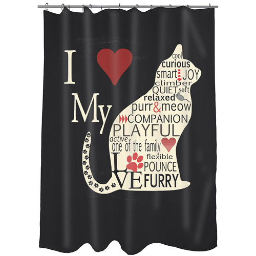 MOD Home Love My Cat Shower Curtain