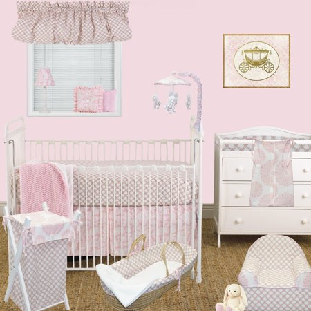Sweet & Simple Pink 7 Piece Crib Bedding Set by Cotton Tale