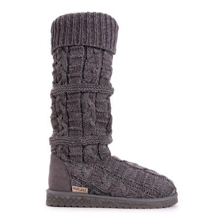 Muk Luks Shelly Marl Knit Sweater Slouch Boot (Women's)