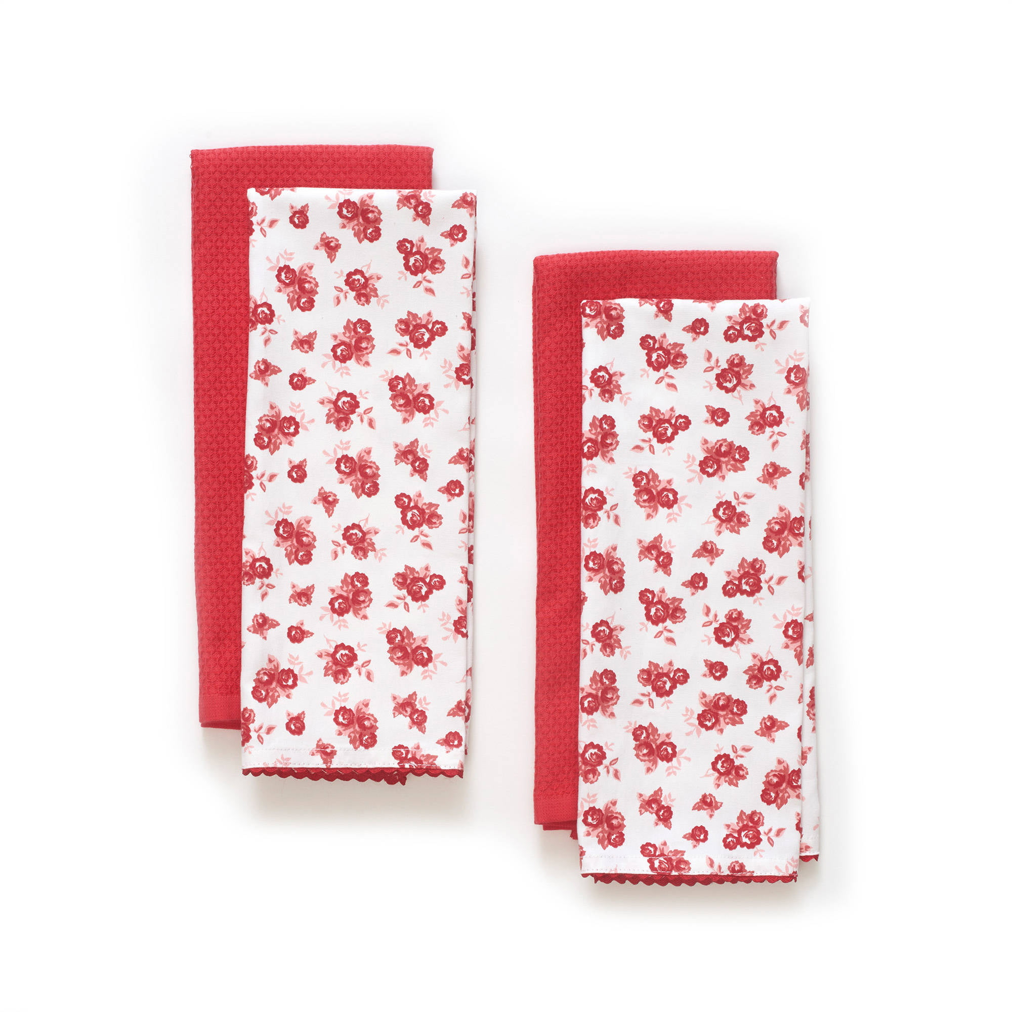 The Pioneer Woman Wild Rose Kitchen Towel Set, 4pk by TOWN AND COUNTRY LIVING