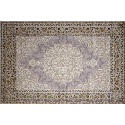 Astoria Grand Monteiro Hand Look Persian Wool Brown/Ivory/Purple Area Rug