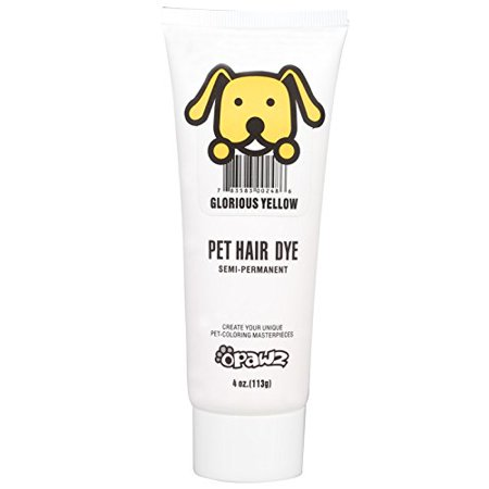 DOG HAIR DYE GEL - New Bright, Fun Shade, Semi-permanent, completely  non-toxic and safe (YELLOW)
