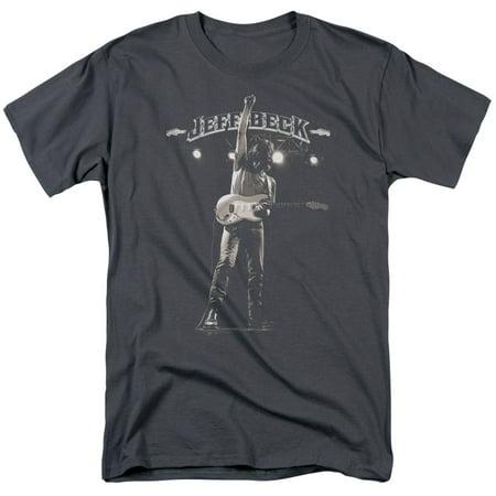 Jeff Beck Rock Music Guitar Legend Guitar God And Logo Adult T-Shirt Tee