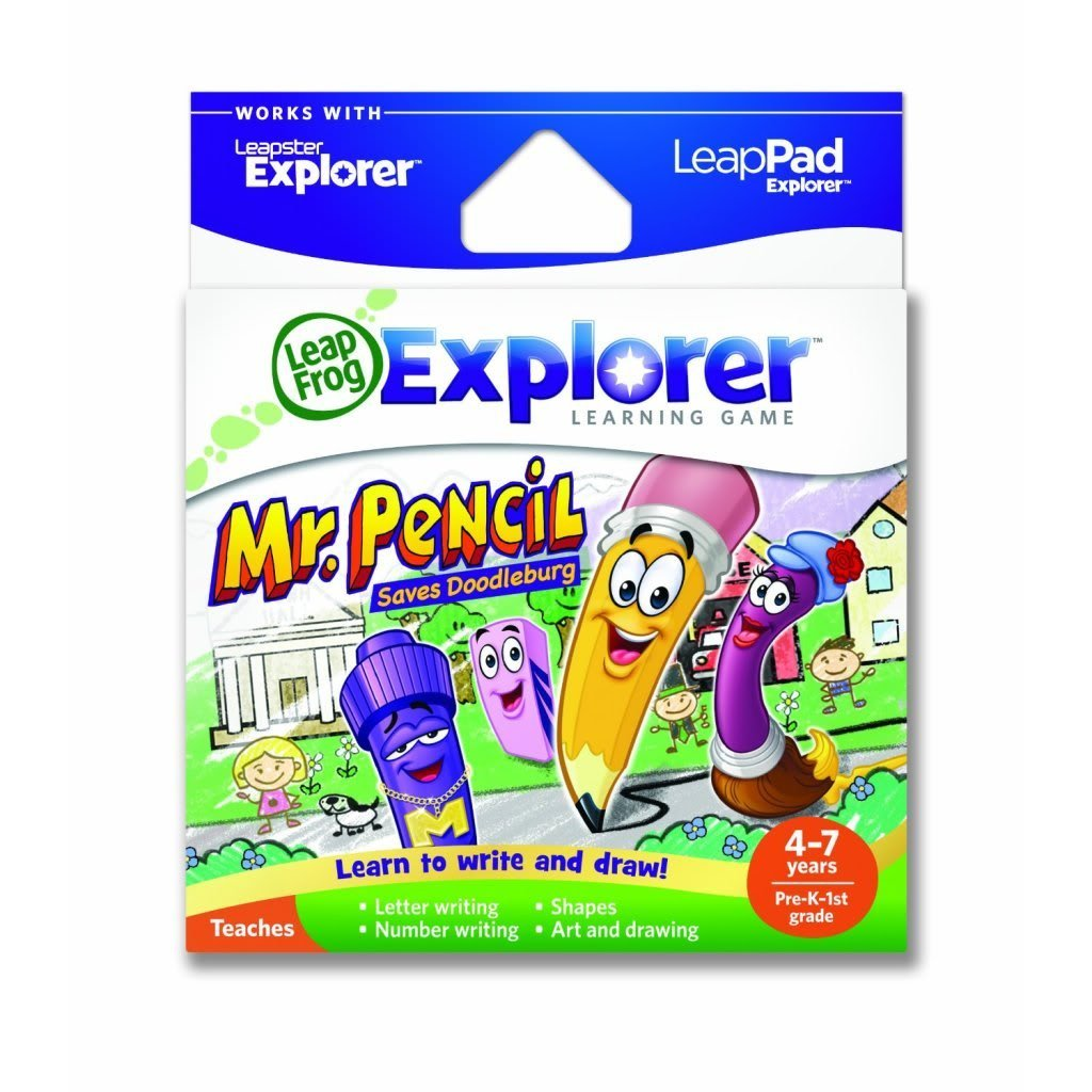 Toy / Game LeapFrog Explorer's Learning Game: Mr. Pencil Saves Doodleburg (works w/ LeapPad & Leapster Explorer) By 4KIDS